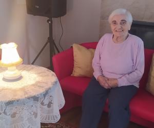 Spotkanie filmowo-muzyczne seniorów w Domu Pomocy Społecznej MBNP